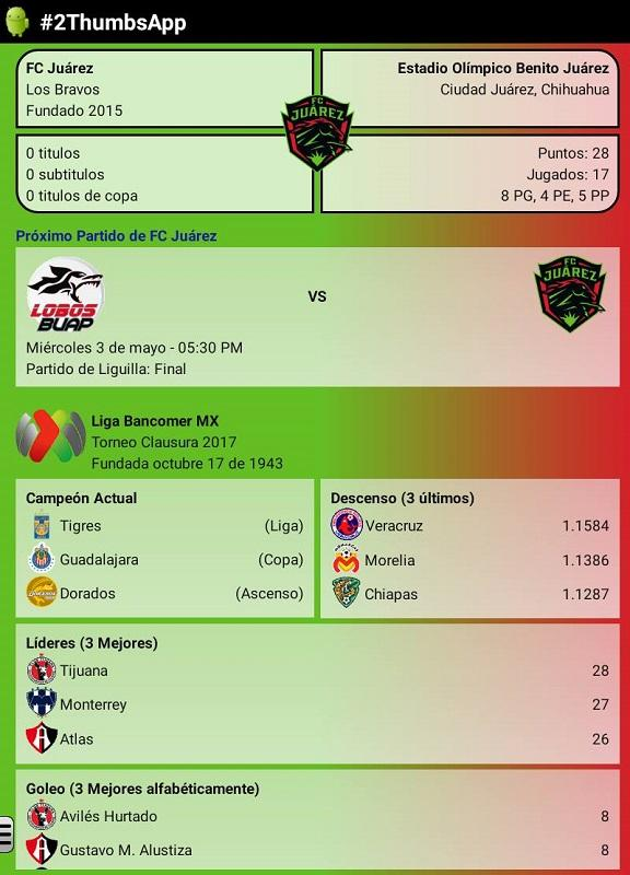 Soccer Mexican League- screenshot