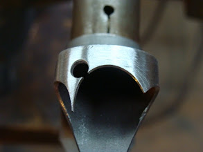 Photo: After a bit more clean up work, the final shape that will mimic the down tube lug.