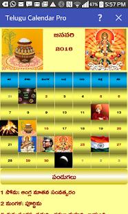 Telugu Calendar Pro - náhled