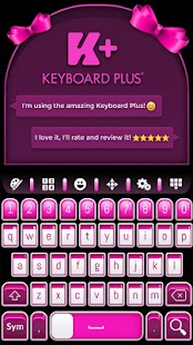 Keyboard Plus Pretty Pink - náhled
