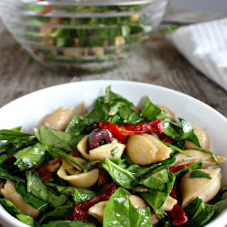 Pasta Salad with Baby Spinach and Sun Dried Tomatoes Recipe
