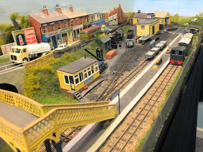 Photo: 005 A higher level view of the station taken from the standard gauge viaduct, which hopefully adds a bit of perspective to the track plan in photo 002 .