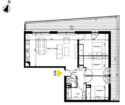 Vente appartement 4 pièces 80,47 m2
