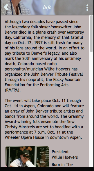 John Denver Tribute Festival- screenshot