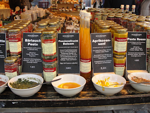 Photo: The Germans do mustard in a big way. Anyone for apricot  (third from left)?