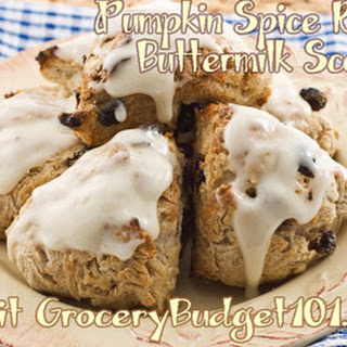 Pumpkin Spice Raisin Buttermilk Scones