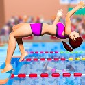 Summer Sports Swimming Pool Race -Diving Athletic icon
