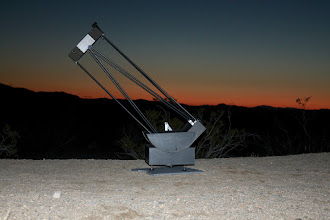 Photo: The telescope has been assembled and is ready for some observations.