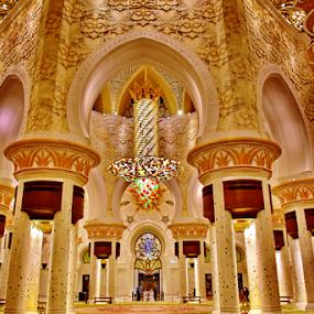 grand prayer hall by Ashutosh Singhvi - Buildings & Architecture Other Interior ( interior, dubai, mosque, abu dhabi, prayer hall )