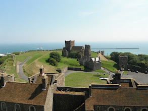 Photo: View of the Channel from the top of the castle