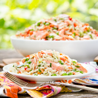 Grilled Salmon Rice Salad