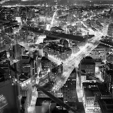 Photo: [Layered City] Soft. Out of focus, Blurry. Double exposure. Film. All fucked up. I kinda dig it.  Film: Kodak BW400CN Shutter: about 15 seconds Aperture: F/8-ish Camera: Rolleiflex 2.8D #toronto  #rooftopping  #urbex  #doubleexposure #rolleiflex