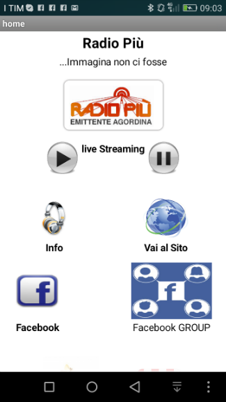 Radio Più- screenshot