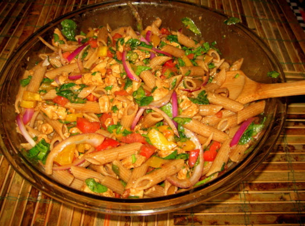 Penne Pasta, Chicken, Spinach, Tomatoes With Balsamic Vinaigrette Recipe