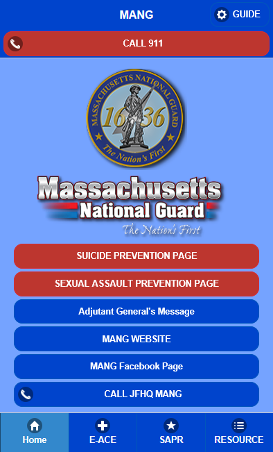 Massachusetts National Guard- screenshot