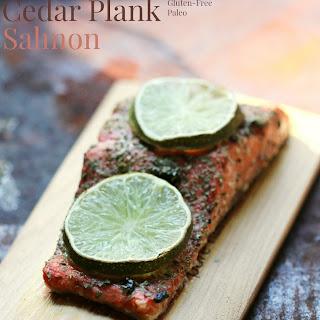 Black Garlic & Lime Cedar Plank Salmon.