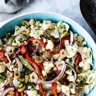 Mediterranean Cauliflower Salad.