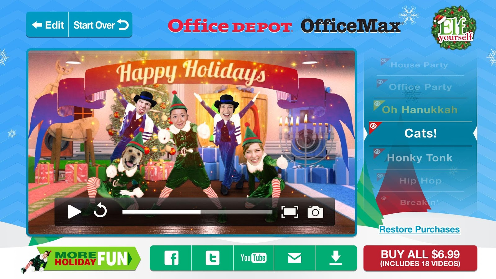 ElfYourself by Office Depot- screenshot