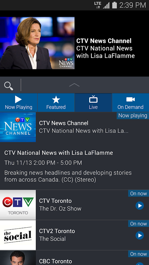 Bell TV- screenshot