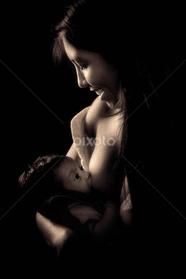 by David Terry - Babies & Children Children Candids ( love, studio, child, breast feeding, mother, infant, maternal, portrait )