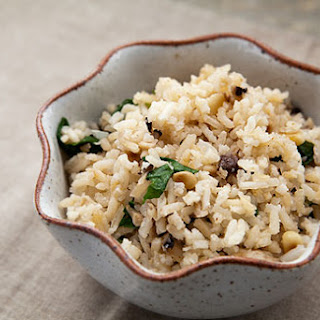 Rice Pilaf with Mushrooms and Pine Nuts