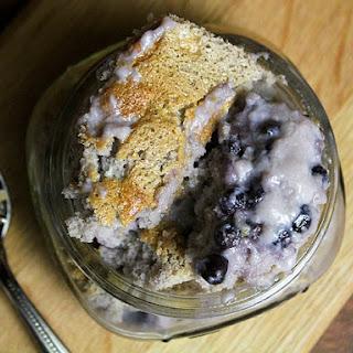 Maine Wild Blueberry Pudding Cake.