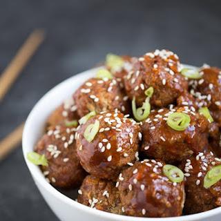 Spicy Asian Vegan Meatballs.