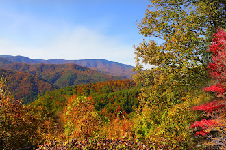 Photo: Looking North from the rim of Cataloochee Cove in the North Carolina part of the Great Smoky Mountains