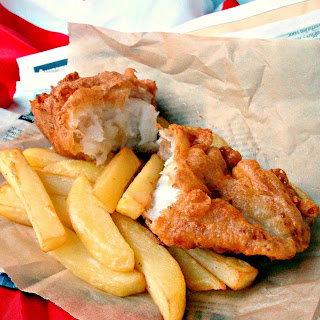 British Beer Battered Fish and Chips.
