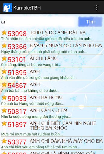 Karaoke tìm bài hát