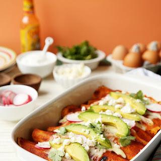 Chorizo and Egg Breakfast Enchiladas