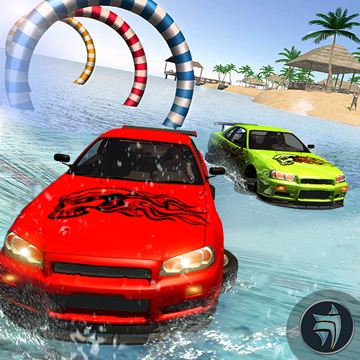 Water Surfing Car Racing Stunt
