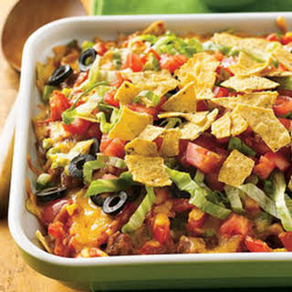Beef and Bean Taco Casserole.