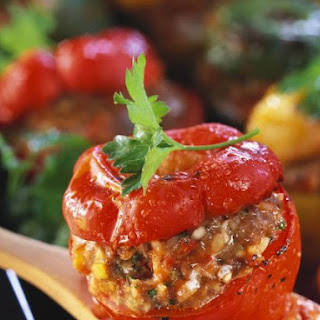 Baked Peppers with Filling.
