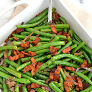 Green Beans with Shallots and Bacon.