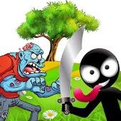 Stickman fights vs zombies: escape