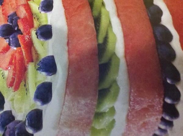 Easy No- Bake Watermelon Cake Recipe