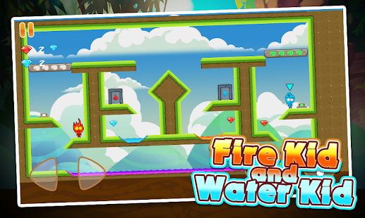 Fire Kid And Water Kid - Fire and Water Maze Screenshot