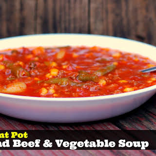 Instant Pot Ground Beef & Vegetable Soup.