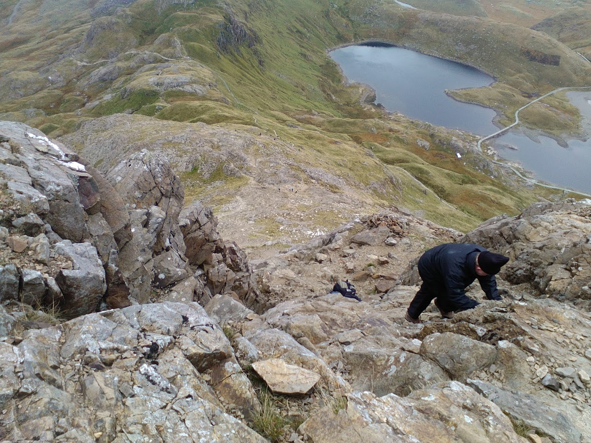 Crib Goch east ridge lower section