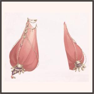 錦紗のパフスリーブ