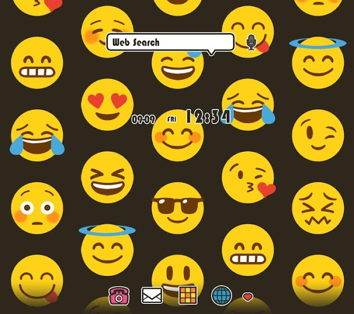 Emoji Party +HOME Theme Android App Screenshot
