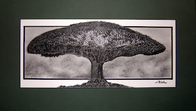 Photo: 020 mixed media approx 15 x 25 in. matted original $400 SOLD