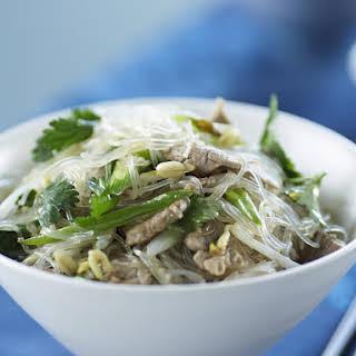 Pork and Cilantro Glass Noodles.
