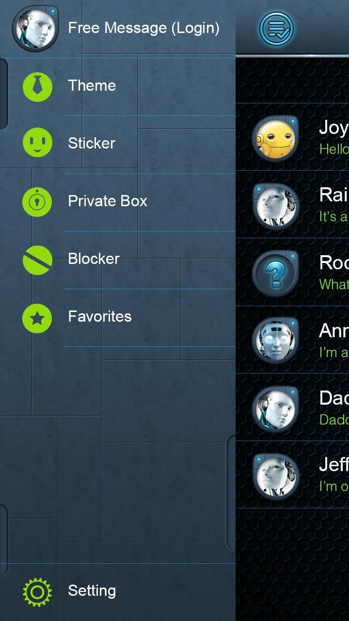 Скриншот GO SMS SECRET THEME