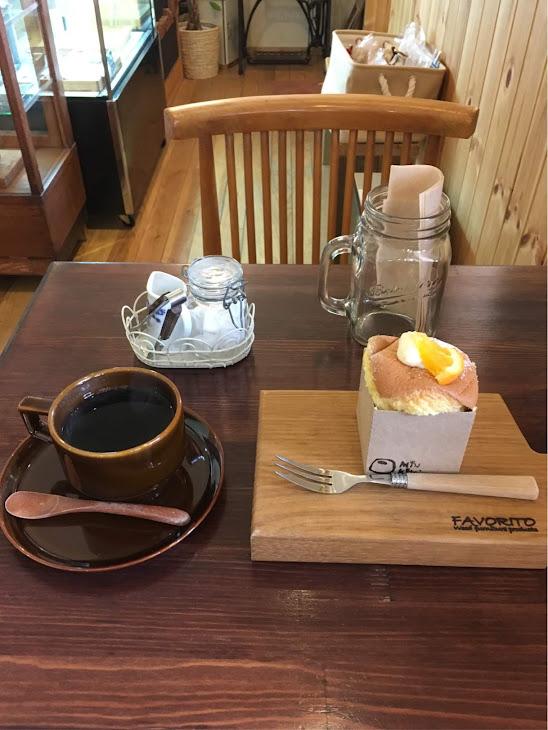 シフォンケーキのカフェセット