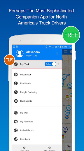 Find Truck Loads, Stops, Weigh Stations & GPS screenshot