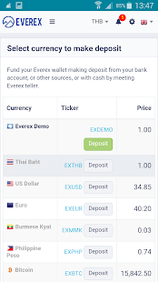 Everex Wallet- screenshot thumbnail