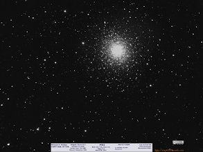 Photo: More backlog.  this is M92 with an overexposed core, but at 1.5hrs 2x2 binning you can really see the outer halo of stars VERY well.