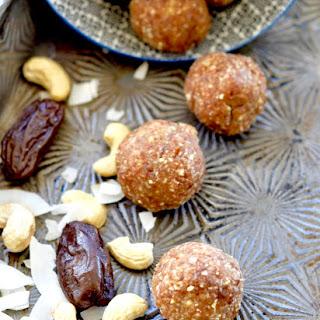 Coconut Cashew Energy Bites Recipe
